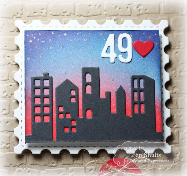 Sending You Love by Jen Shults using Downtown Border from Taylored Expressions