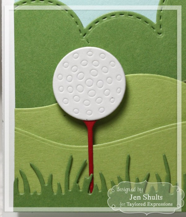 You're Tee-riffic by Jen Shults using Punny Man and Little Bits Golf Ball & Tee from Taylored Expressions