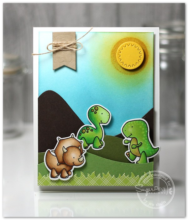 Prehistoric Birthday by Jen Shults, stamps from SugarPea Designs