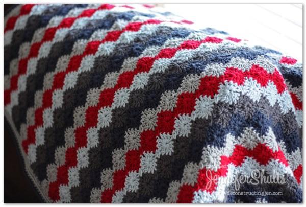 Harlequin Crochet Baby Blanket