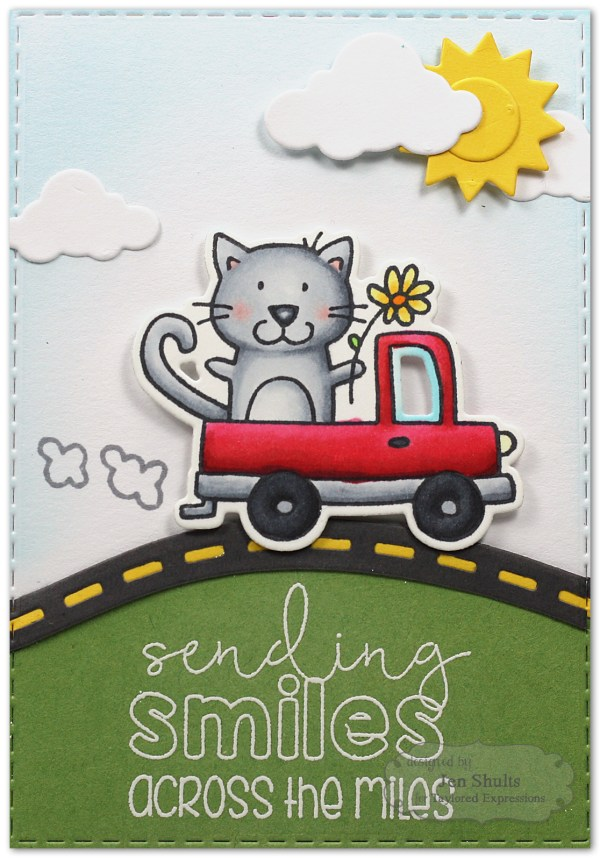 Sending Smiles by Jen Shults using stamps and dies from Taylored Expressions