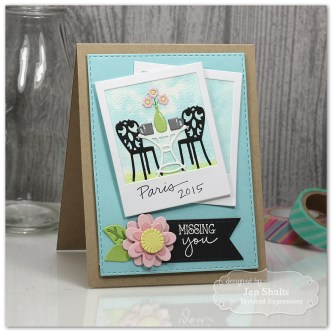 Missing You by Jen Shults #handmade #handmadecard #tayloredexpressions