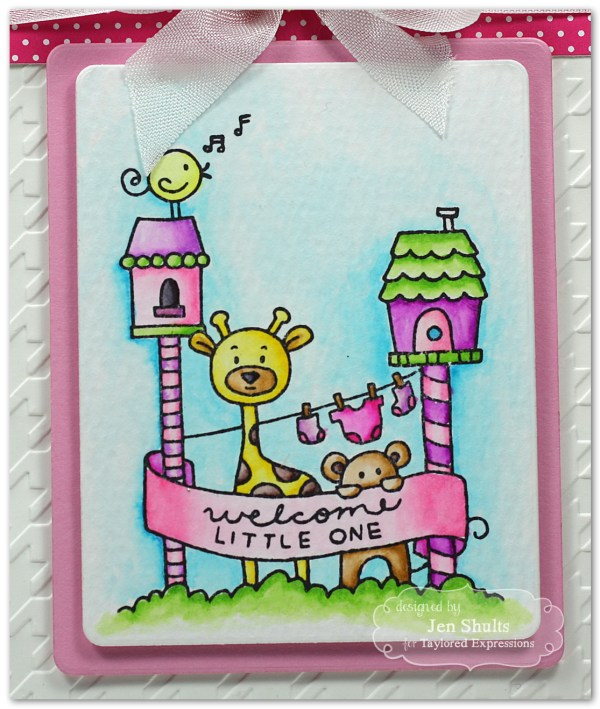 Welcome Baby by Jen Shults #handmade #handmadecard #tayloredexpressions