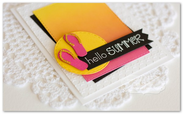 Hello Summer by Jen Shults, stamps and dies from Taylored Expressions