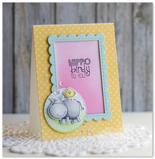 Hippo Birdy to You by Jen Shults