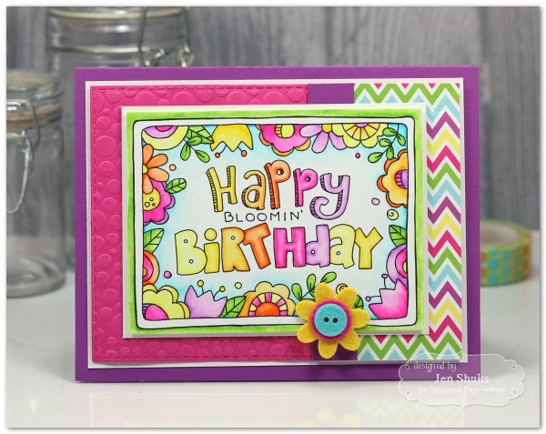 Happy Bloomin' Birthday, handmade card by Jen Shults