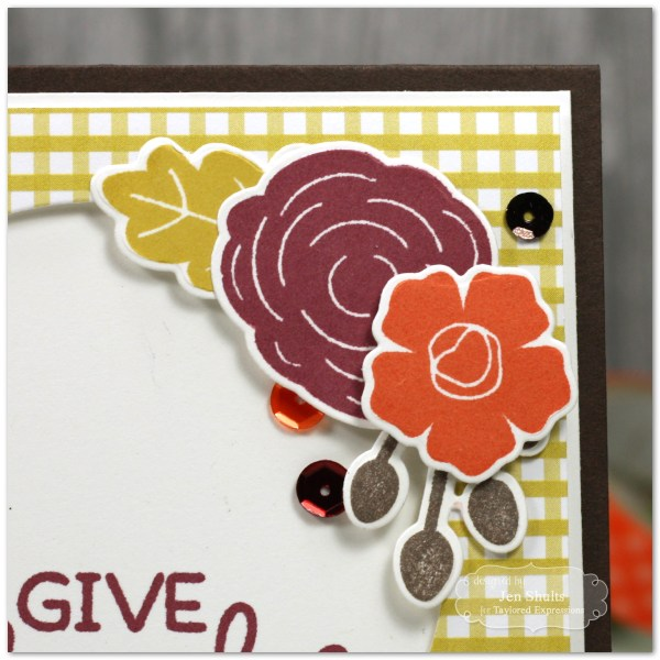 Give Thanks, handmade card by Jen Shults
