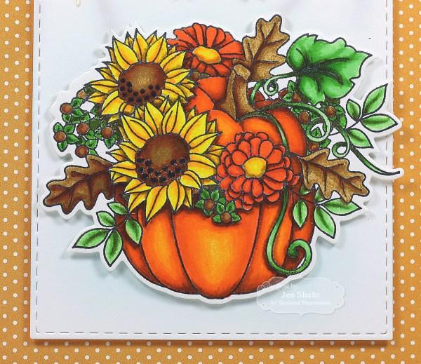 Pumpkin Bouquet Thanks by Jen Shults