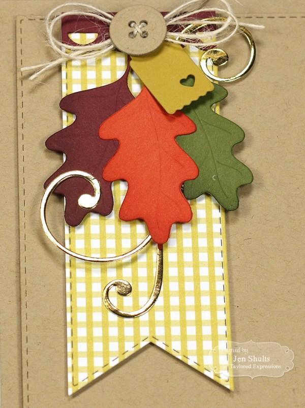 Falling Leaves, handmade card by Jen Shults