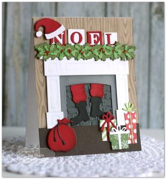 Noel by Jen Shults, handmade Christmas Card
