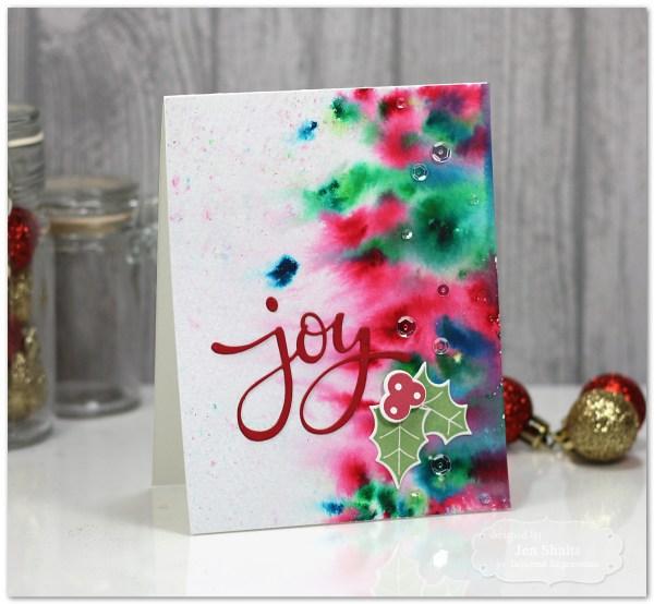 Joy, handmade card by Jen Shults