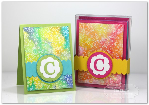 Monogram Note Card Gift Set by Jen Shults