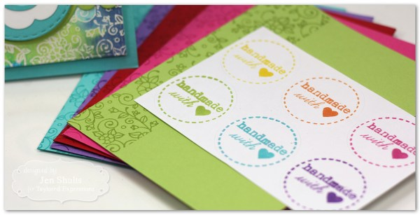 Monogram Watercolor Notecard Set by Jen Shults