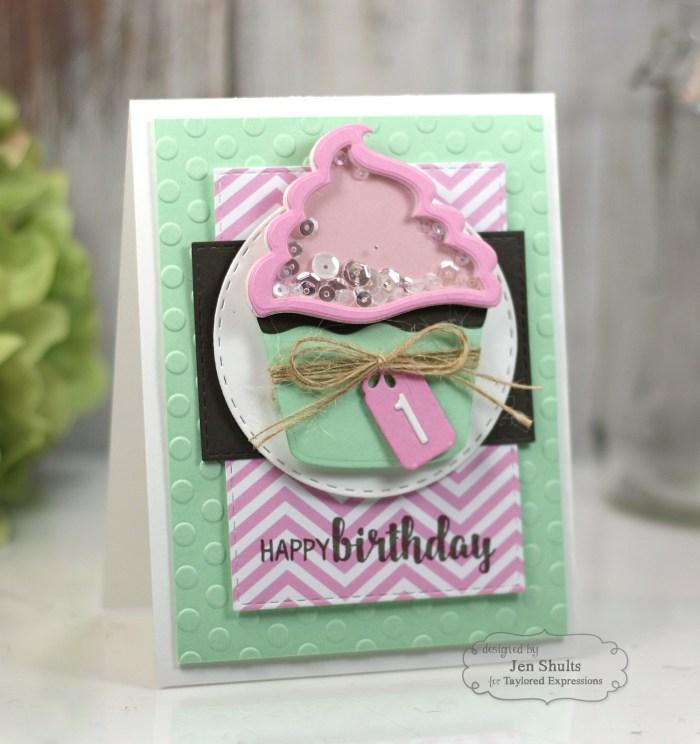 Happy 1st Birthday by Jen Shults, handmade card