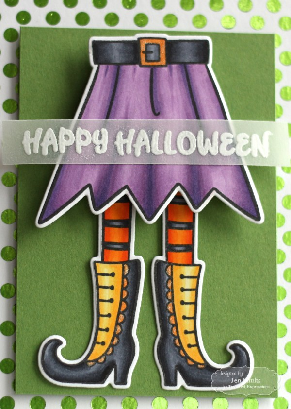 Happy Halloween handmade card by Jen Shults, stamps and dies from Taylored Expressions