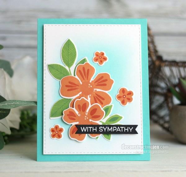 With Sympathy, handmade card