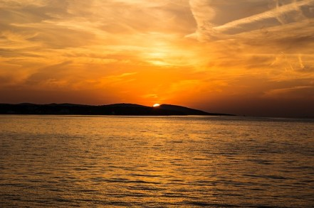 The Romantic Beauty-Sunset on Islands ... Credit: Benjamin C.-Croatia ... Photo taken from ... https://pixabay.com/en/sunset-sea-island-croatia-coast-523912/