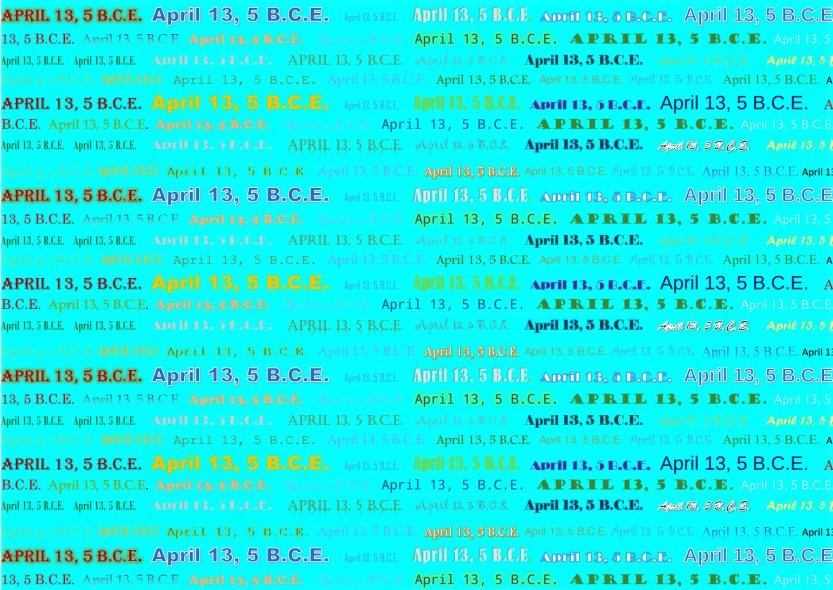 April 13-5 BCE