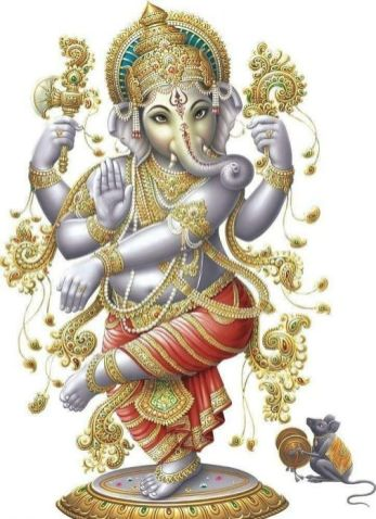 An imagination of the artist. God Ganesha. Pinterest (Public Domain).