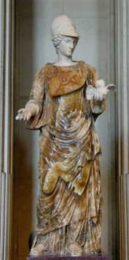 Helmeted Minerva holding a tiny owl. ( Public Domain ) The photo was taken form ... https://www.ancient-origins.net/myths-legends/belisama-who-was-beautiful-powerful-and-popular-gaulish-goddess-007826
