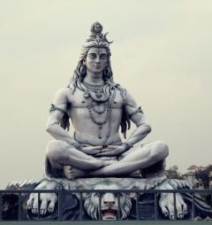 Lord Shiva - An imagination of the artist - Exposed on the bank of the Ganga River in Rishikesh, India.