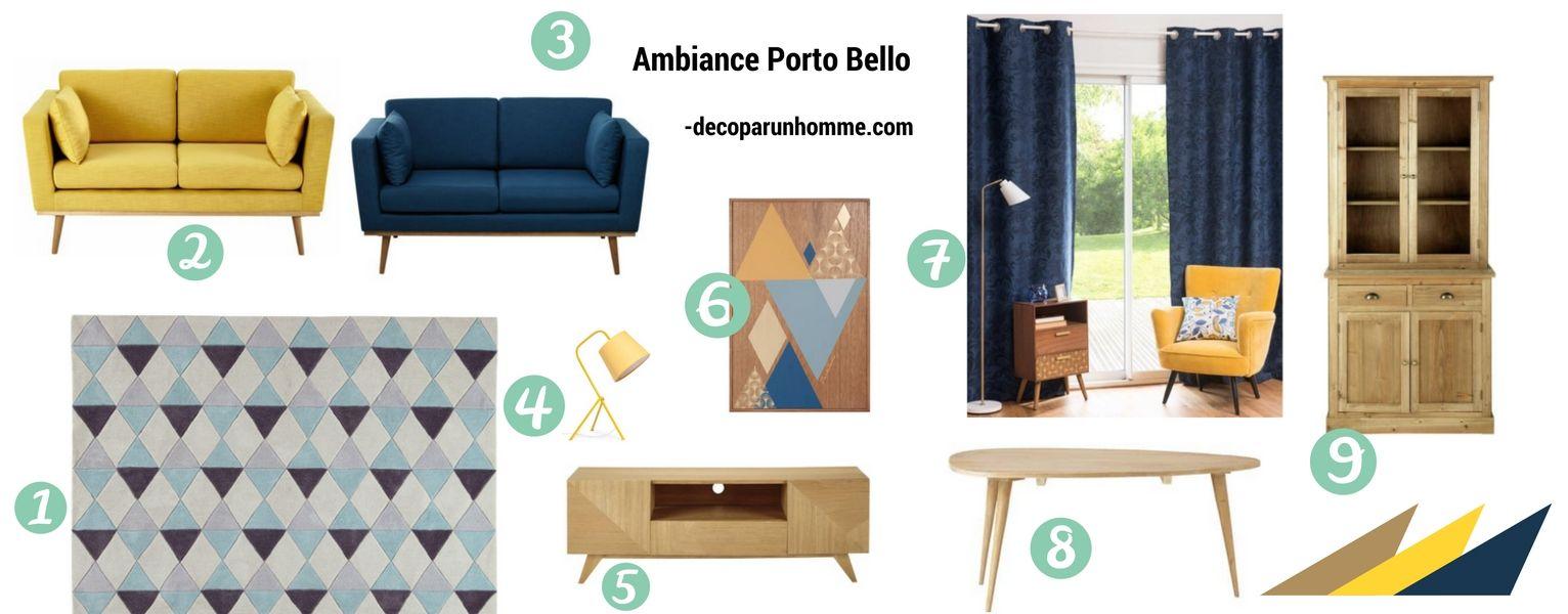 Shopping listes Déco Ambiance Porto-Bello Maison du Monde