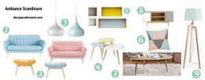 Shopping listes déco ambiance Scandinave Maison du monde