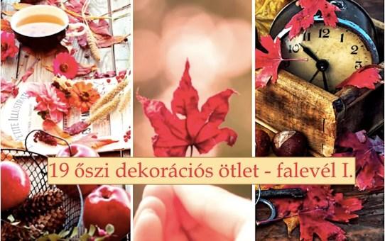 19 őszi dekorációs ötlet - falevél I.