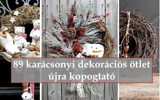 89 karácsonyi dekorációs ötlet – újra kopogtató