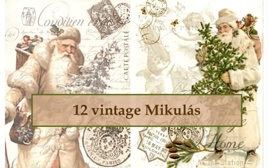 12 vintage Mikulás