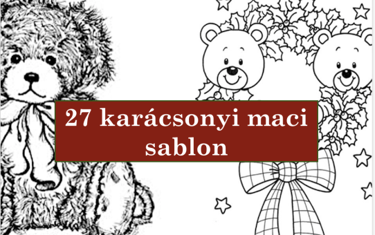 27 karácsonyi maci sablon