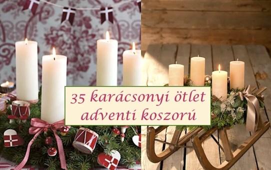 35 karácsonyi ötlet – adventi koszorú