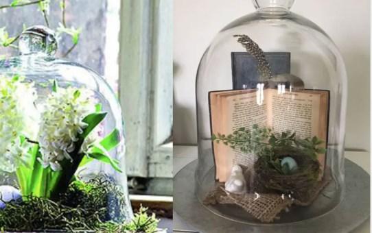 45 tavaszi-, húsvéti dekorációs ötlet - üvegharang