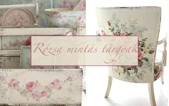 Rózsa mintás tárgyak