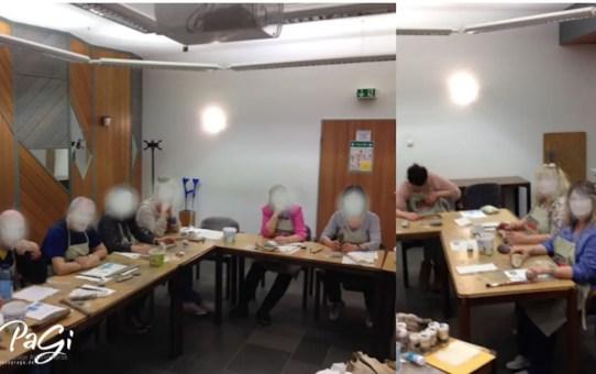 Horusauge, Vergoldung von Treibholz und auf Naturholz – Fotos vom Kurs, 14. 03. 2018