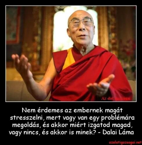 Nem érdemes az embernek magát stresszelni…