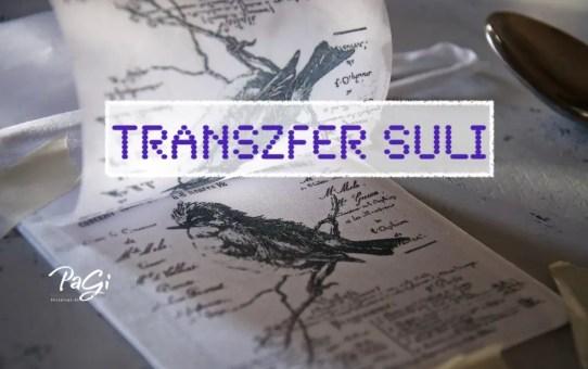 Transzfer suli - első lépések