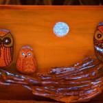 Sötétben világító baglyok DIY