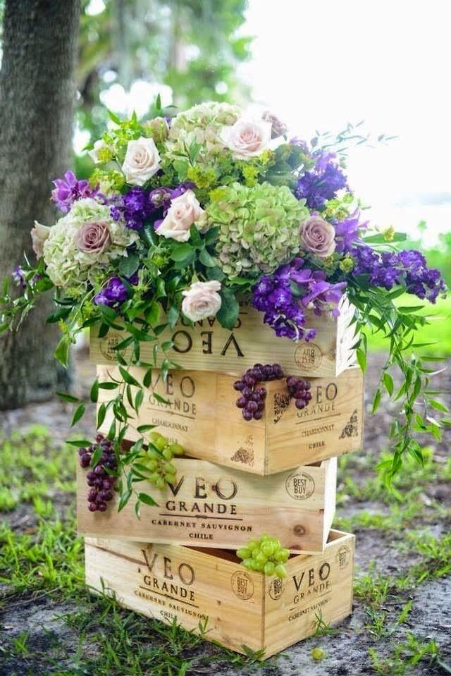 цветы в ящиках