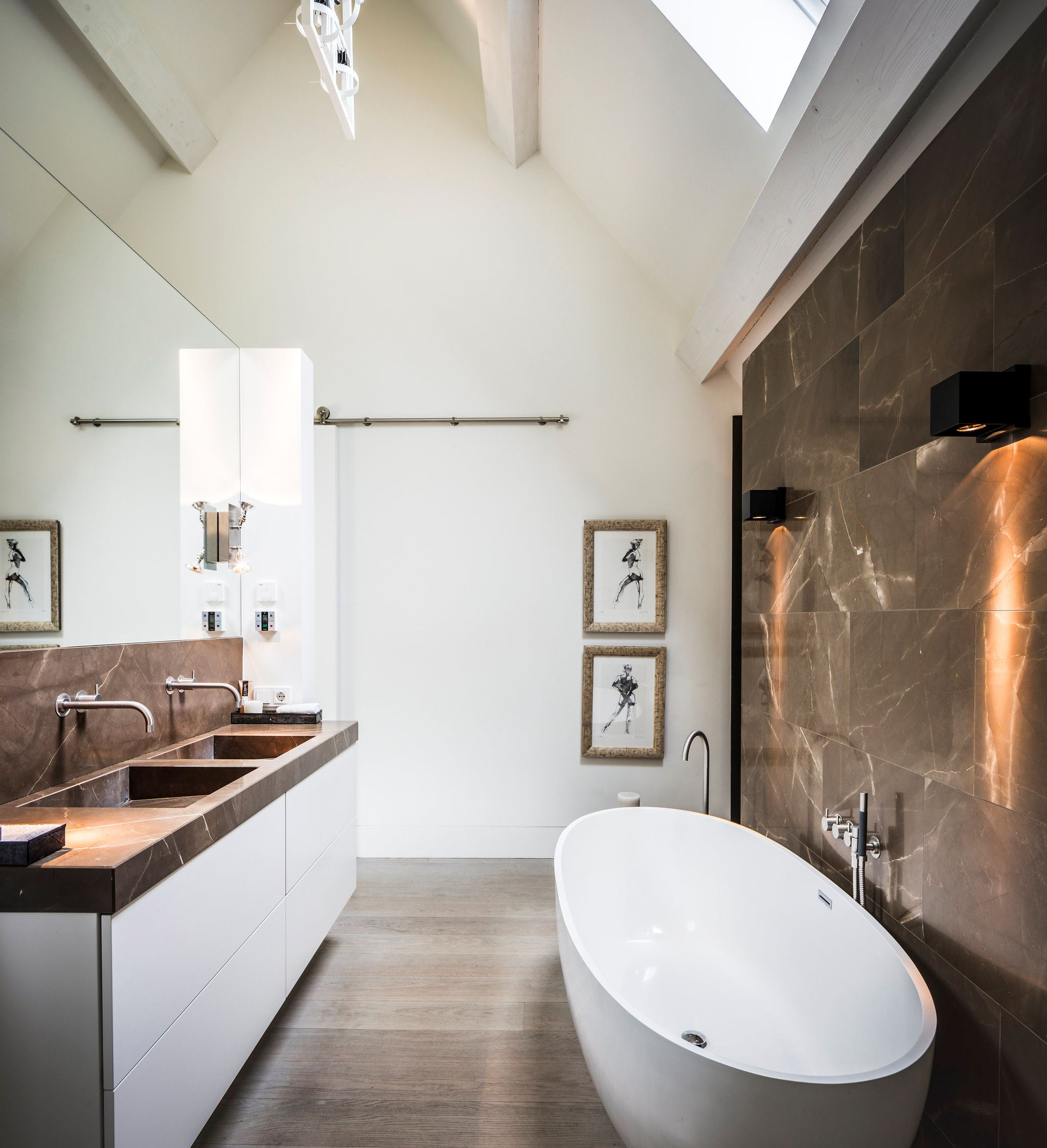 мрамор двойная раковина ванная комната