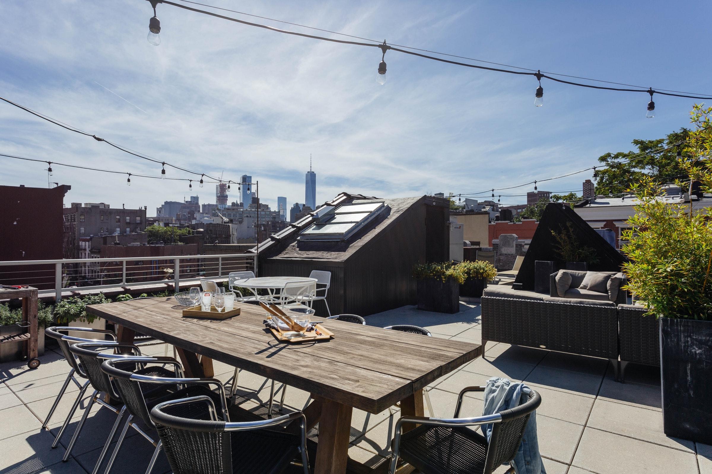 крыша терраса мебель
