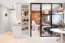 межкомнатная перегородка гостиная спальня