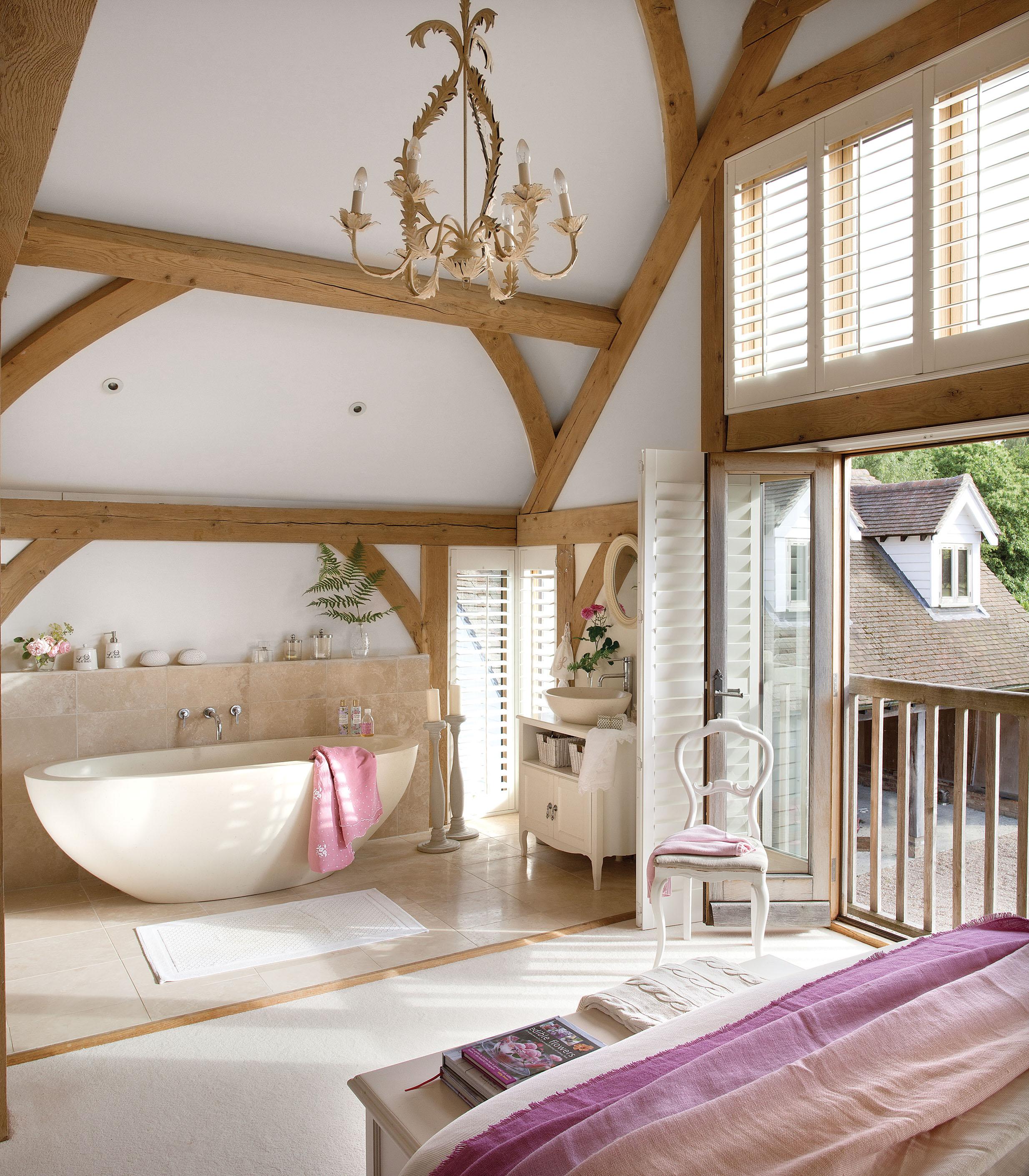 спальня жалюзи ванна