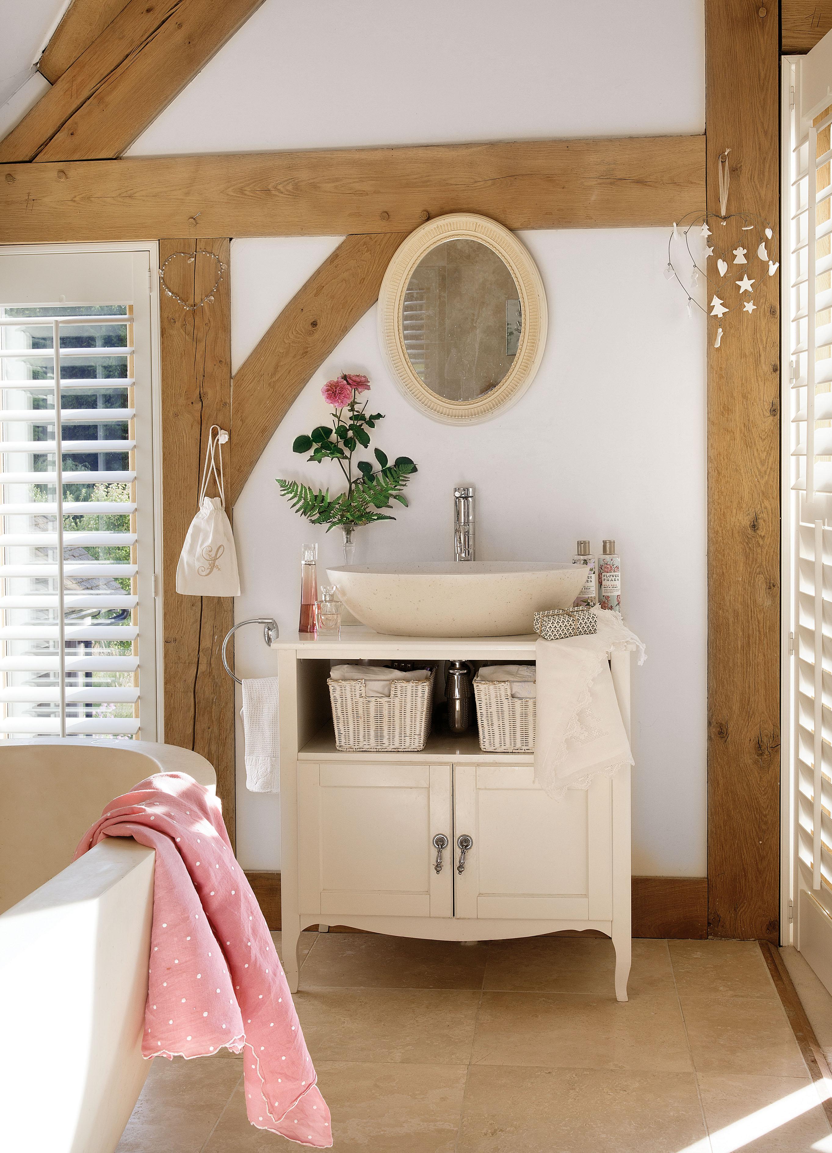 ванная комната комод накладная раковина зеркало жалюзи