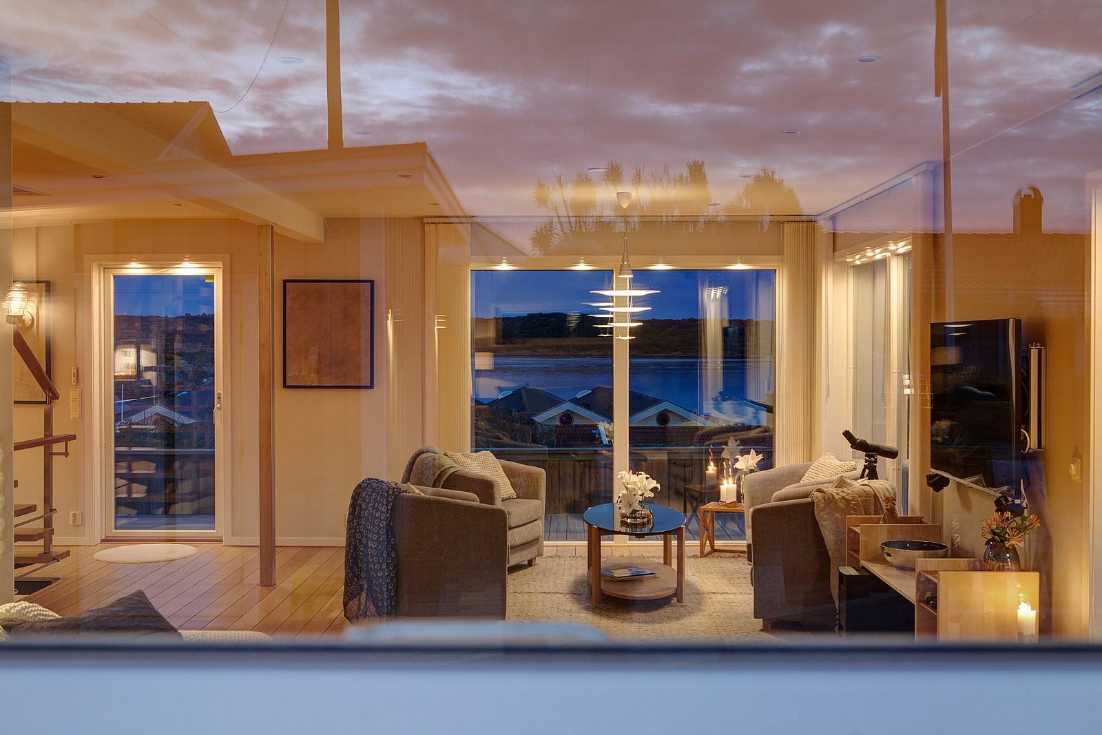 вечернее освещение гостиная