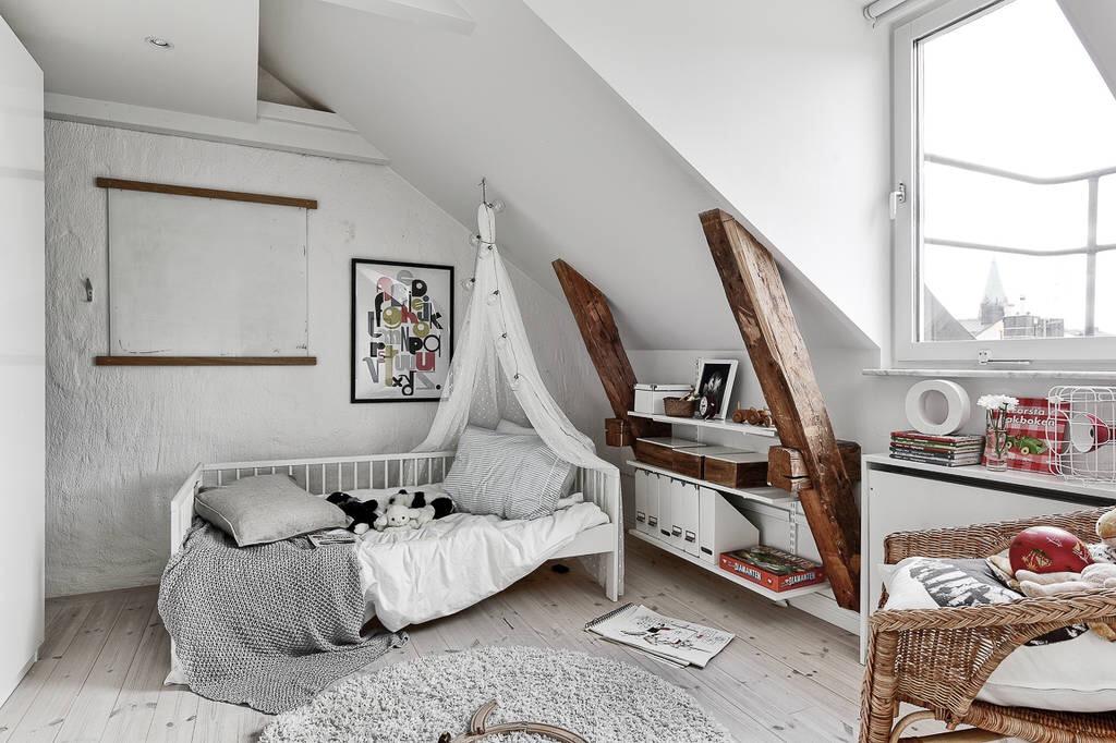 мансарда детская комната