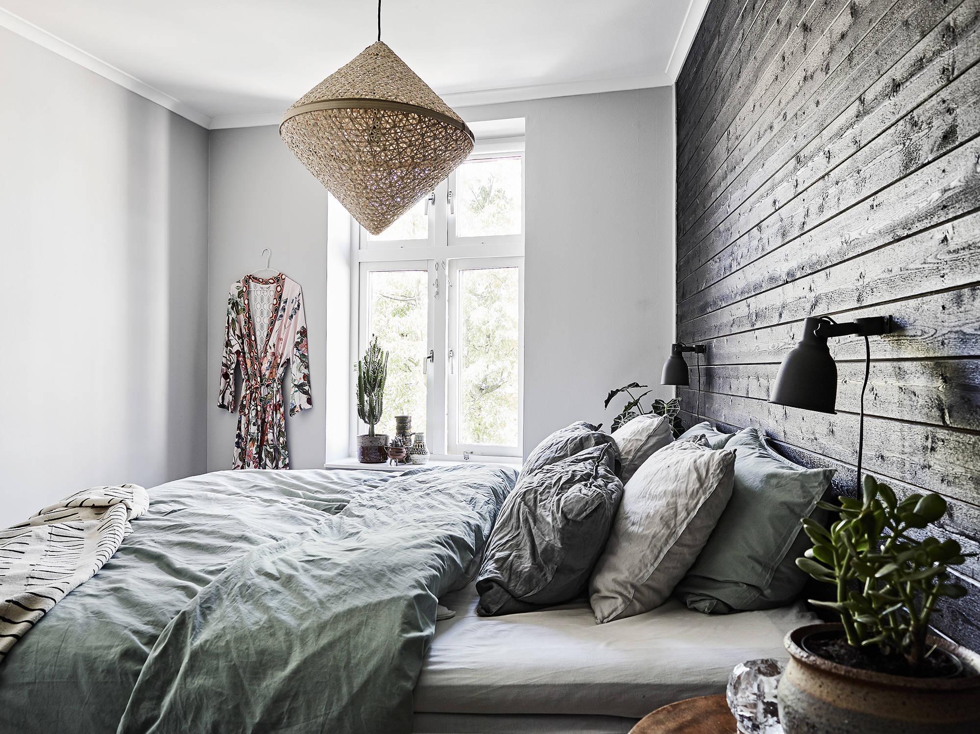 спальня кровать изголовье подушки