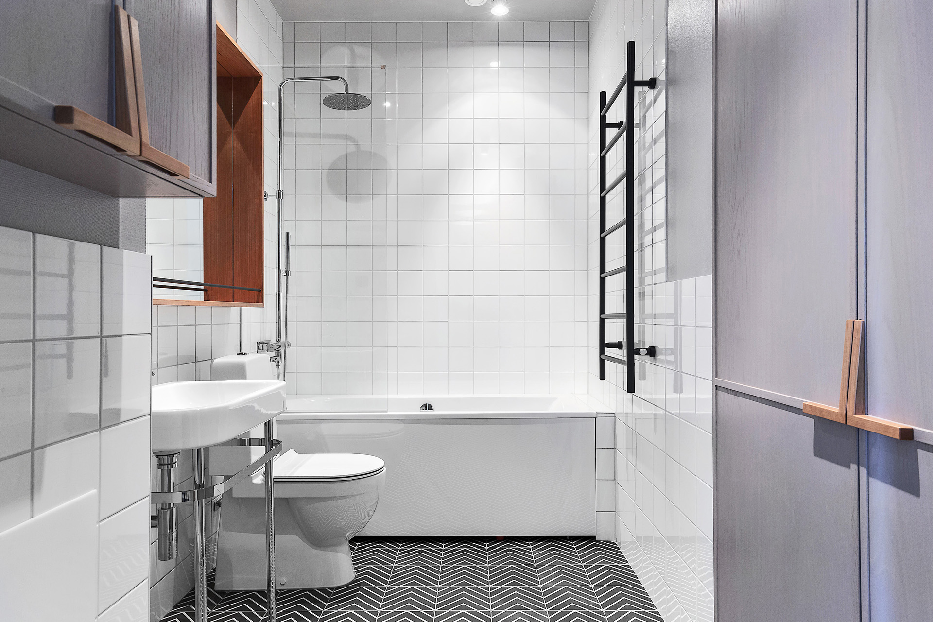 ванная комната белая плитка