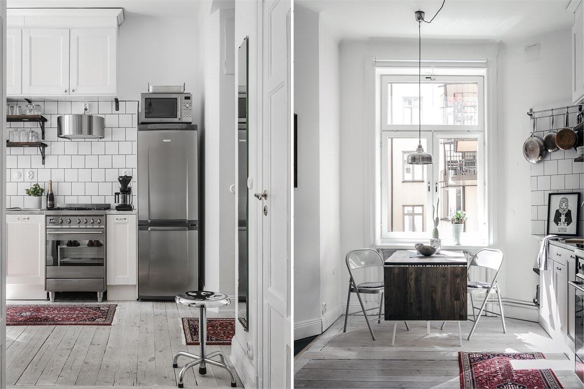 кухня стол холодильник