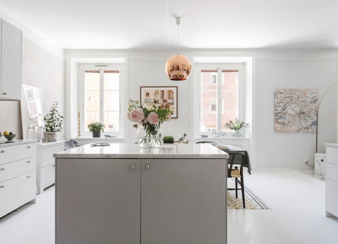 кухня столовая кухонный остров